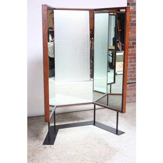Image of Mid-Century Free-Standing Three-Panel Mirror