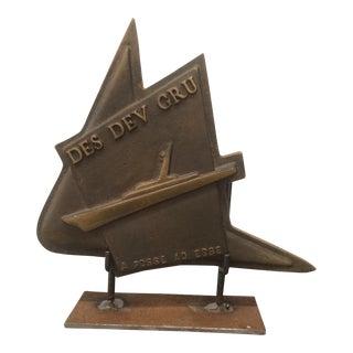 Bronze French Cruise Ship Emblem