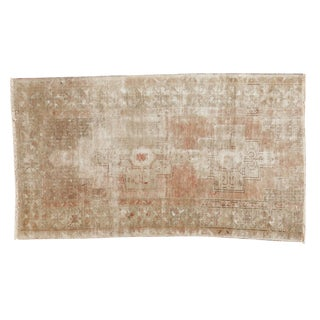 "Vintage Distressed Oushak Rug Runner - 3'8"" x 6'8"""