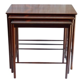 Grete Jalk Mid-Century Rosewood Nesting Tables - Set of 3
