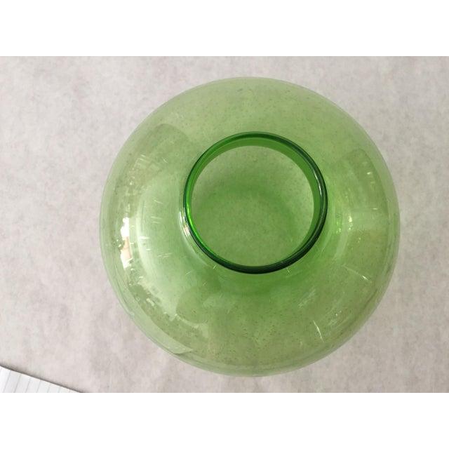 Handblown Vintage Green Vase - Image 3 of 5