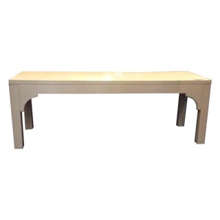 Restoration Hardware White Bench