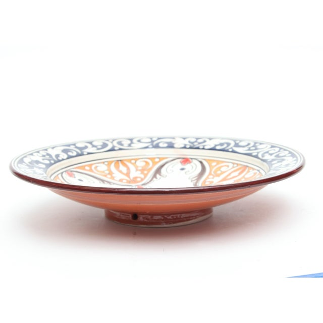 Atlas Navy & Orange Ceramic Plate - Image 3 of 3