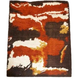 Vintage Handmade Swedish RYA Rug - 8′11″ × 11′7″