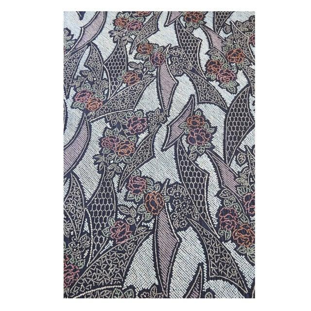 "Shibori Silk Table Cloth Indigo Blue 44"" x 144"" - Image 1 of 5"
