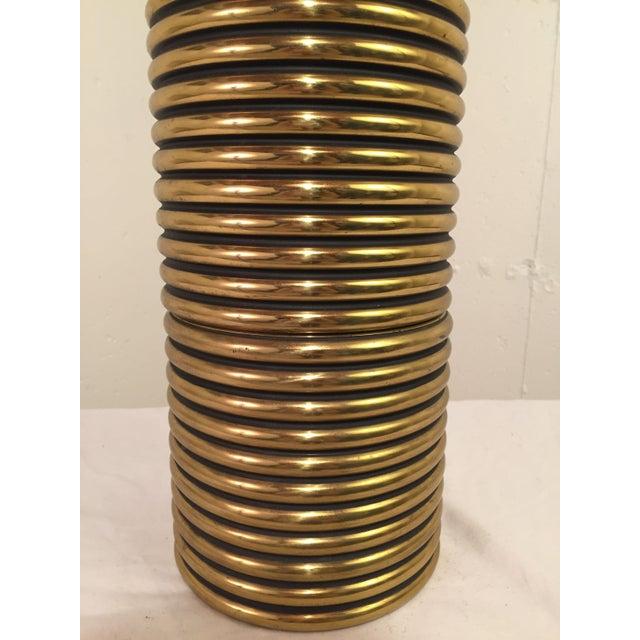 Gabriella Crespi Style Brass Lamp - Image 3 of 3