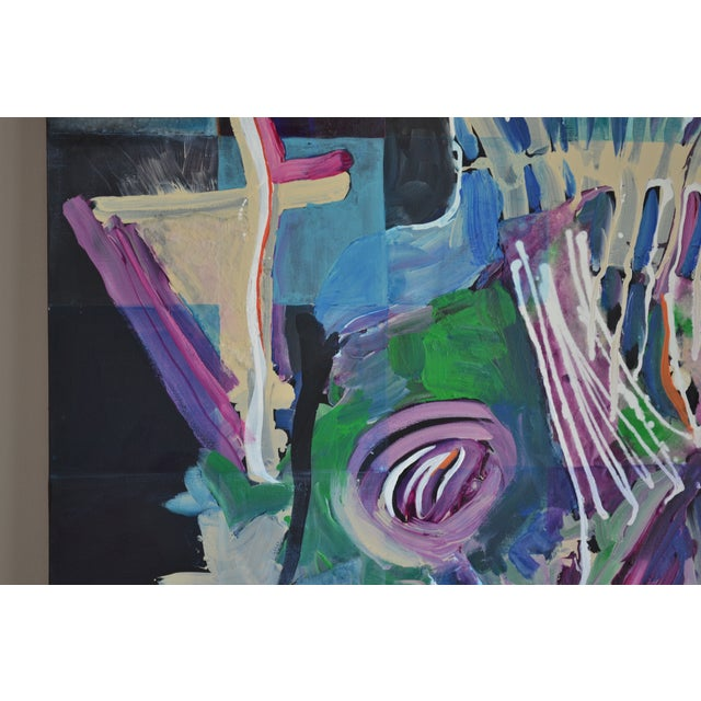 Image of Modern Abstract Acrylic Painting - Blues