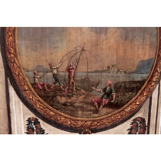 A Set of Five Large Hand-Painted Trompe l'Oeil Wall Panels - Image 7 of 11