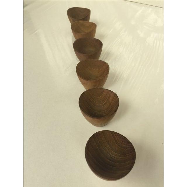 Ernst Henriksen Tiny Danish Teak Bowls - Set of 6 - Image 5 of 11