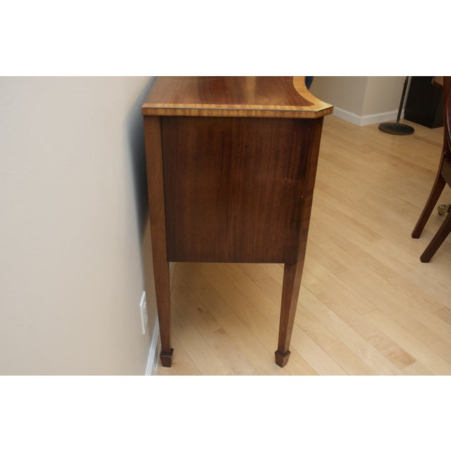 Antique Mahogany Serpentine Buffet Sideboard - Image 4 of 10