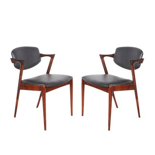 Kai Kristiansen Rosewood No. 42 Dining Chairs, Set of 2