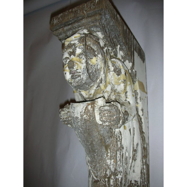 Antique Carved Oak Gargoyle Brackets - A Pair - Image 8 of 11