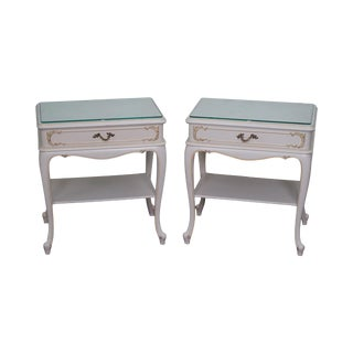 French Louis XV-Style Nightstands - A Pair