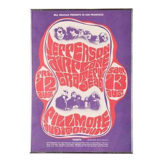 Vintage Grateful Dead in San Francisco Concert Poster