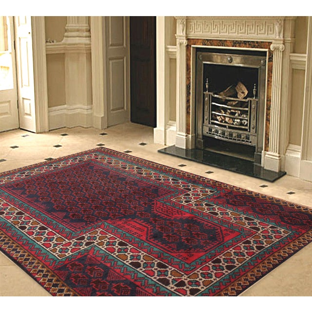 """Pasargad Balouch Collection Rug - 2'9"""" X 4'6"""" - Image 2 of 2"""