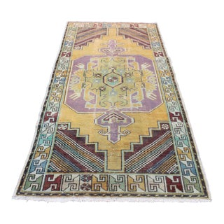 Turkish Handmade Wool Rug - 3′11″ × 8′6″
