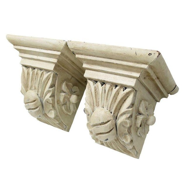 Carved Cream Corbels - a Pair - Image 3 of 3