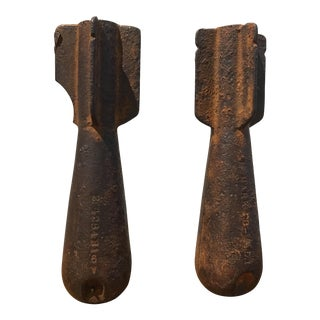 Vintage Iron Test Bombs - A Pair
