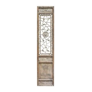 Vintage Chinese Floral Wood Panel