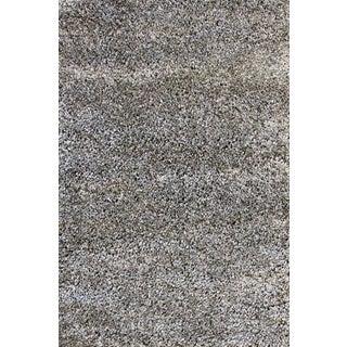 Solid Gray Shag Rug - 5'4''X 7'9''