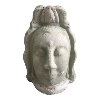 Quan Yin Buddha Female Head Statue