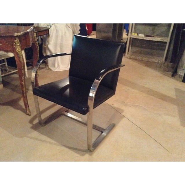 Knoll Brno Chrome & Black Chair - Image 3 of 3