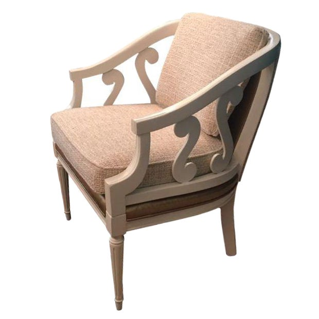 Vintage Cream & Gold Chair - Image 1 of 4