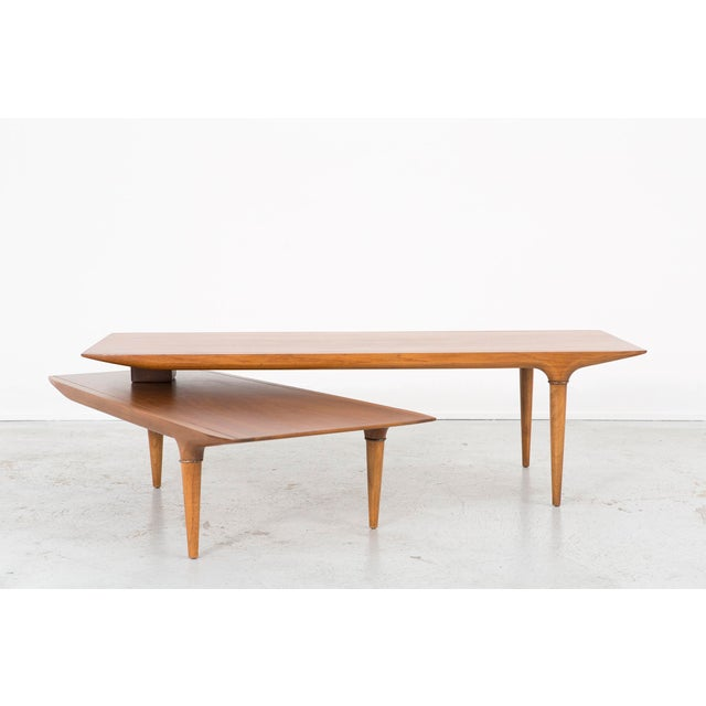 Lane swivel table chairish for Table th width ignored