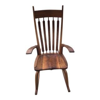 Handmade Walnut Rocking Chair