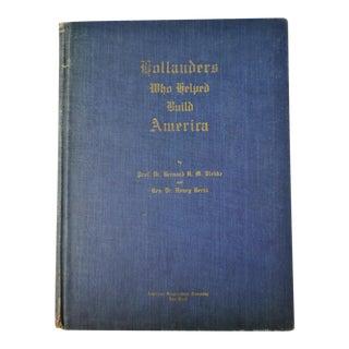 1942 Vintage Hollanders Who Helped Build America History Book