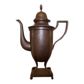 Vintage Brass Teapot Pedestal Base