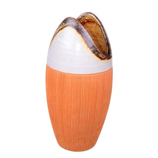 Mid-Century Modern Raymor Orange Ceramic Vase