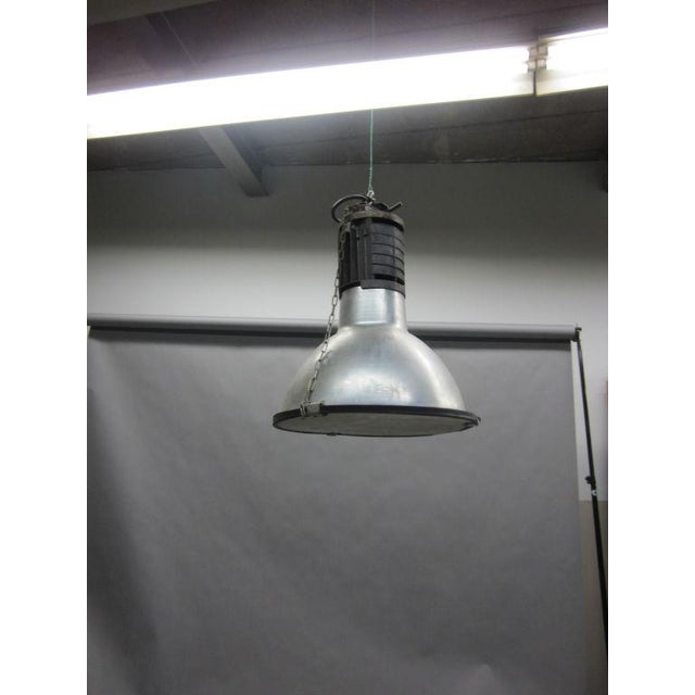 Five Large French Mid-Century Industrial Lights - Image 8 of 8