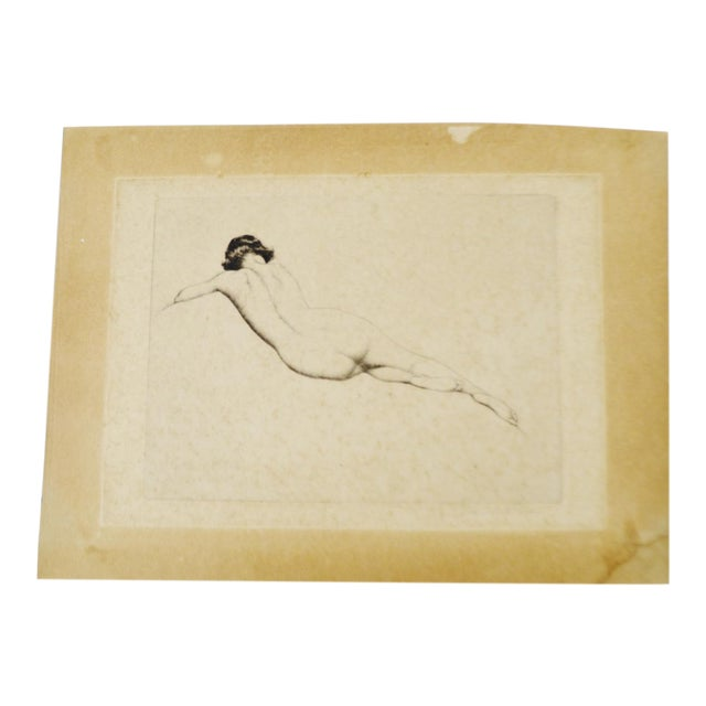 Early Warren B. Davis Pencil Signed Etching - Image 1 of 6