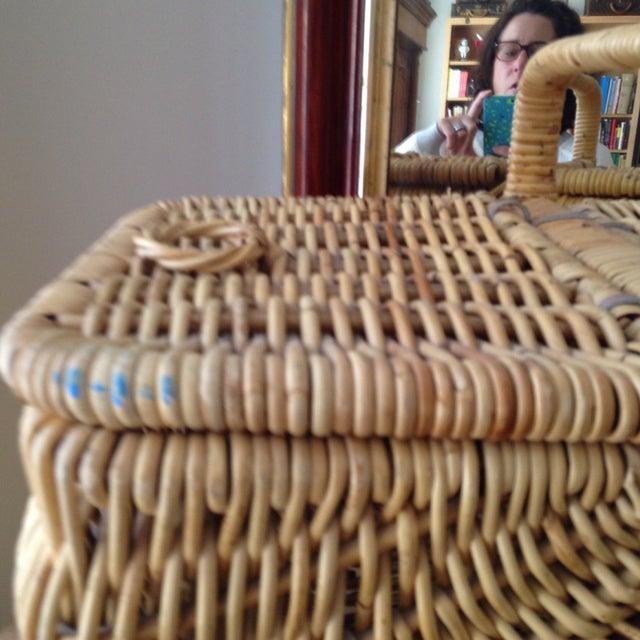 Handmade Wicker Picnic Basket - Image 3 of 5