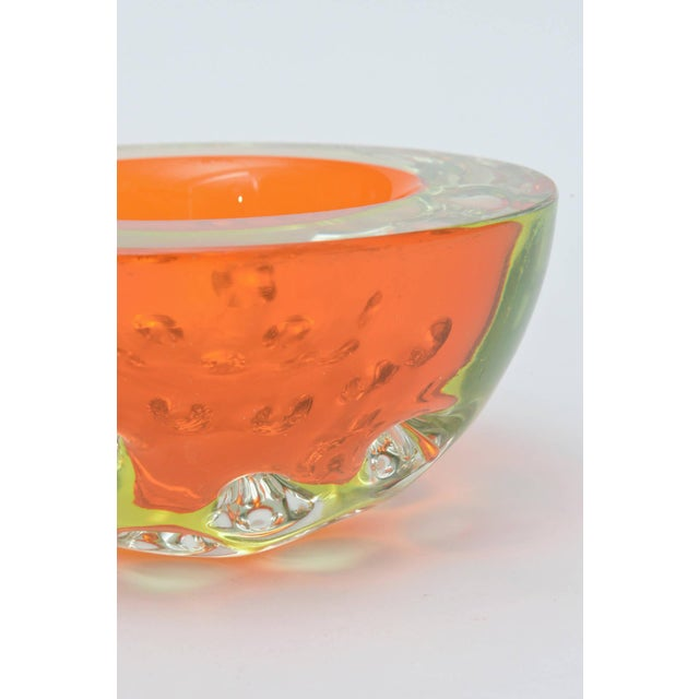 Rare Italian Murano Sommerso Dimpled Geode Glass Bowl - Image 3 of 9