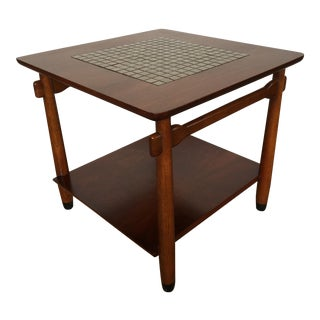 Lane Mid-Century Mosaic Top Side Table