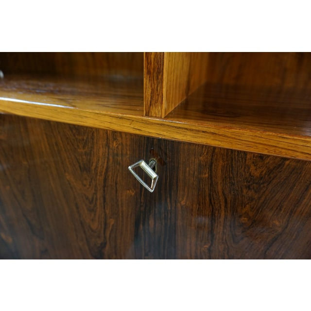 Original Danish Mid Century Hundevad Rosewood Bookcase - Image 8 of 9