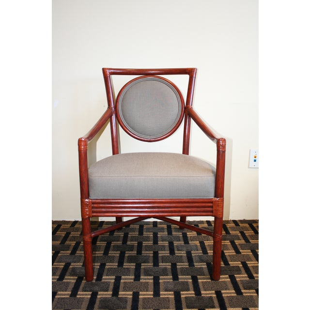 McGuire Orlando Diaz-Azcuy Salon Dining Arm Chair - Image 2 of 8