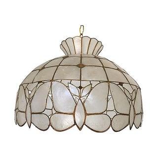 1960s Capiz Butterfly Pendant Light
