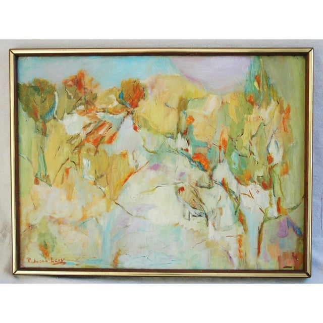 Signed Mid-Century Abstract Oil Painting - Image 4 of 5