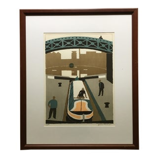 Julian Trevelyan Grand Union Canal at Brentford Signed Print