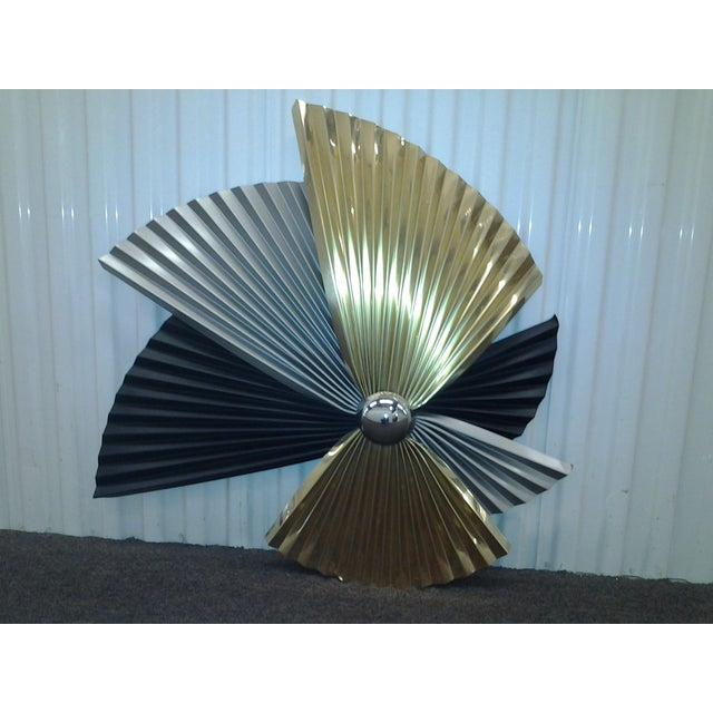 Image of Signed Jere Wall Sculpture in Silver and Gold