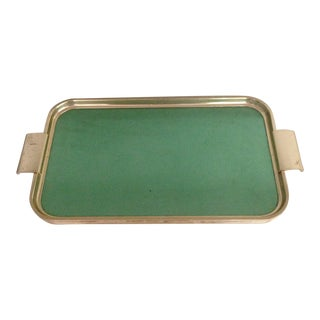 Vintage Green & Brass Tray