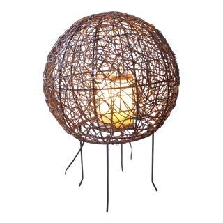 Mid-Century Boho Chic Iron Lamp
