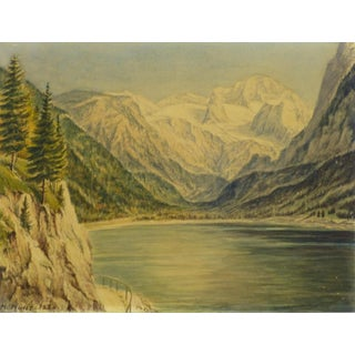 1950 Vintage Original Watercolor, Majesty's Point