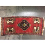 Image of Vintage Turkish Oushak Hand-Knotted Wool Rug - 1' x 4'