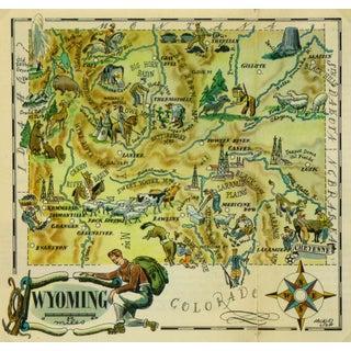 Vintage 1946 Wyoming Pictorial Map