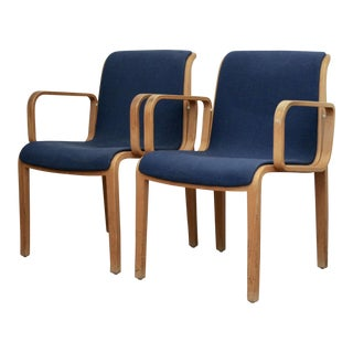 Bill Stephens for Knoll Arm Chairs, a Pair