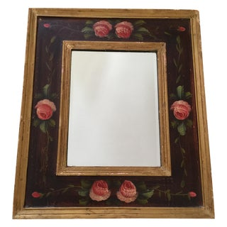 Boho Chic Rustic Painted Rose Mirror
